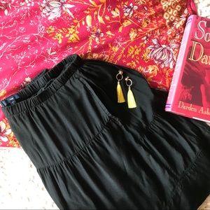 Gap Black Gathered Layered Skirt w/Pockets Small